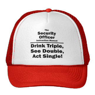security officer mesh hat
