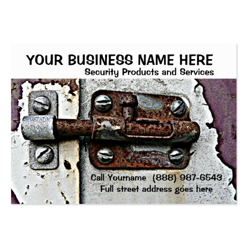 Security or Safety Services Rusty Lock Bolt Large Business Card