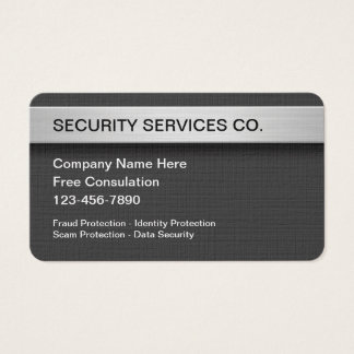 Security Protection And Services Business Card