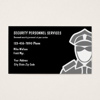 Security Services Business Cards