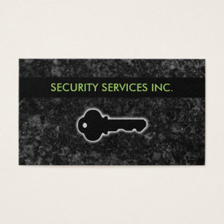 Security Services Businesscards Business Card