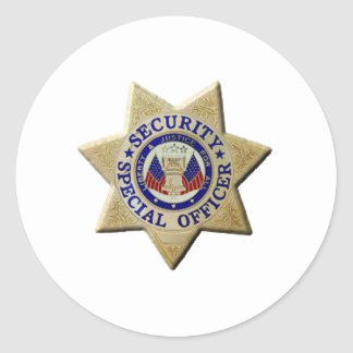 Security Special Officer Classic Round Sticker