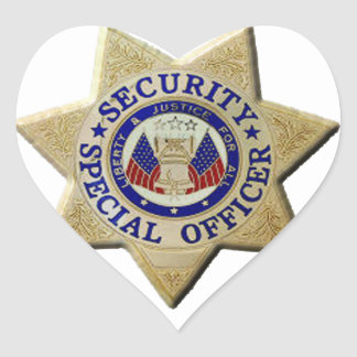 Security Special Officer Heart Sticker