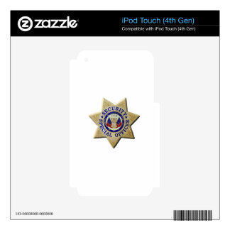 Security Special Officer iPod Touch 4G Decals