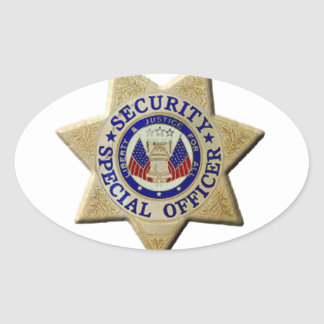 Security Special Officer Oval Sticker