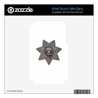 Security Special Officer Silver iPod Touch 4G Decals