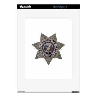 Security Special Officer Silver Skins For The iPad