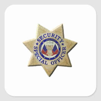 Security Special Officer Square Sticker