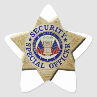 Security Special Officer Star Sticker