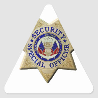 Security Special Officer Triangle Sticker