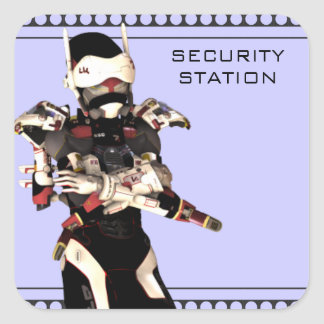 Security Station Square Sticker