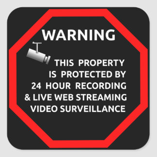 Security Sticker for Windows By Business Supplies