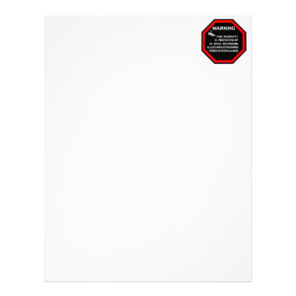 SECURITY STICKER SIGN WARNING SURVELLIENCE CAMERA LETTERHEAD