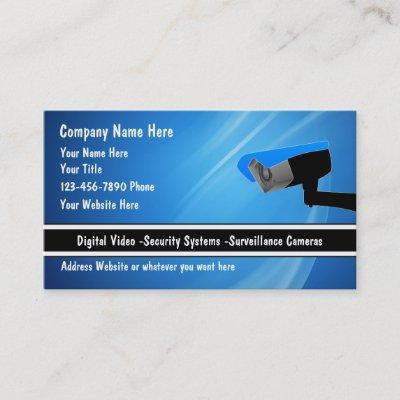 Security Camera Business Card | Zazzle com