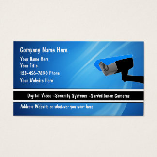 Security System Business Cards