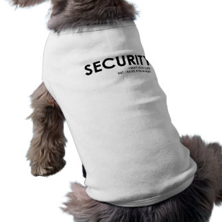 Security T-Shirt for Dogs Dog Tshirt