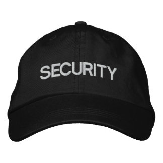 Security Team Adjustable Cap / Hat Embroidered Hats