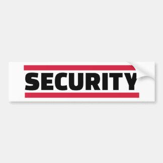Security team bumper sticker