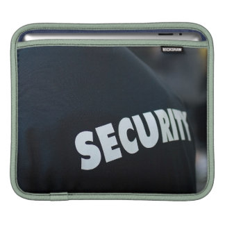 Security Theme, Black & White Sleeve For iPads