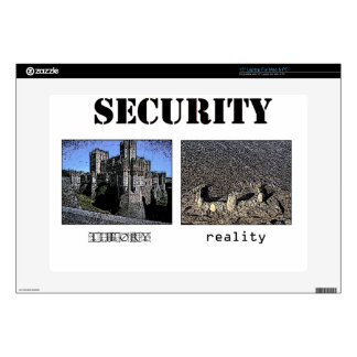 "Security Theory and Reality Decals For 15"" Laptops"