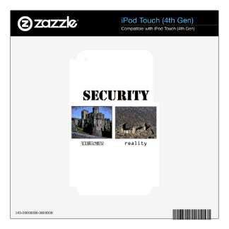 Security Theory and Reality iPod Touch 4G Skins