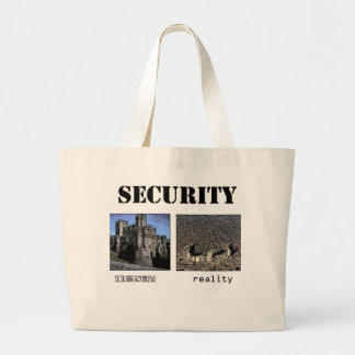 Security - Theory and Reality Large Tote Bag