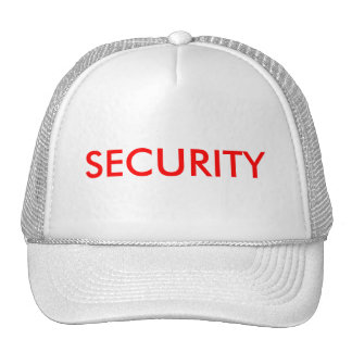 SECURITY TRUCKER HAT