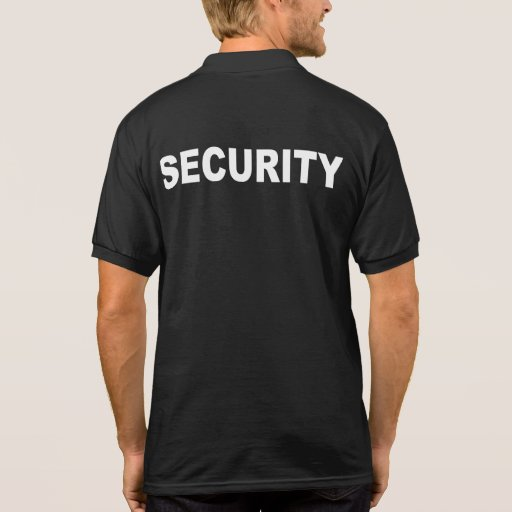 Security with polo t shirt zazzle