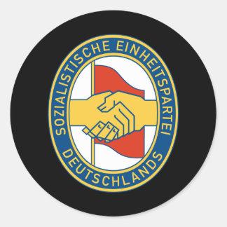 SED de Deutschland - fiesta de trabajador socialis Etiquetas Redondas