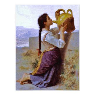 """Sed (soif) del la - ~ de Bouguereau Invitación 6.5"""" X 8.75"""""""