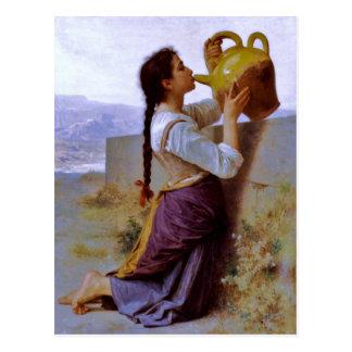 Sed (soif) del la - ~ de Bouguereau Postal