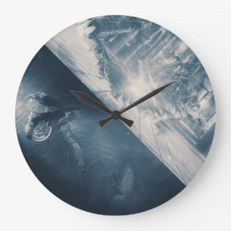 Sed Surreal's contact Large Clock
