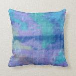 Seda azul almohadas