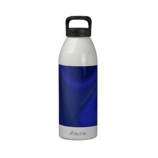 Seda azul marino del satén botellas de beber