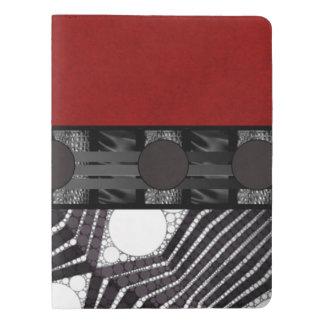 Seda blanca negra del rojo de Bling Funda Para Libreta Y Libreta Extra Grande Moleskin