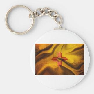 Seda de la bandera de New México que agita en el v Llavero