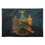Seda de la bandera de Nueva York Mantel