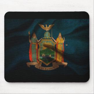 Seda de la bandera de Nueva York Mouse Pad