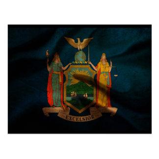 Seda de la bandera de Nueva York Tarjeta Postal