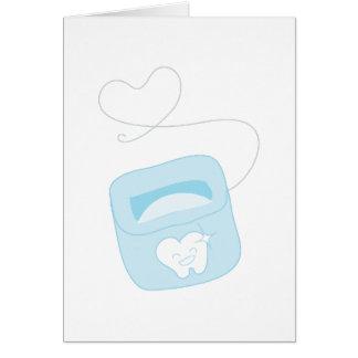 Seda dental tarjeta de felicitación
