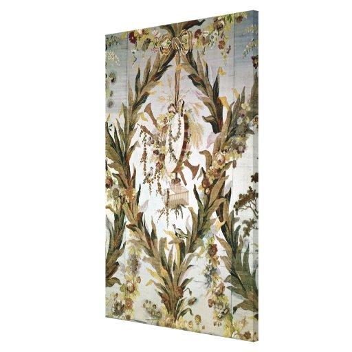 Seda mural del dormitorio de las emperatrices, 178 lona envuelta para galerias