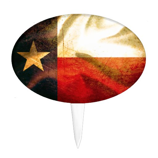 Seda que agita de la bandera de Tejas Decoración Para Tarta