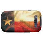 Seda que agita de la bandera de Tejas Galaxy S3 Cárcasa