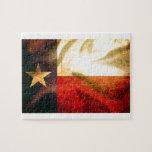 Seda que agita de la bandera de Tejas Puzzles
