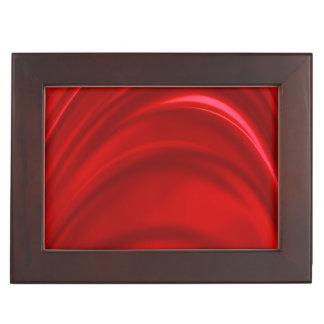 Seda roja caja de recuerdos