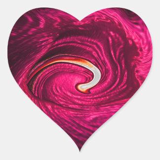 Seda rosada calcomanías de corazones personalizadas
