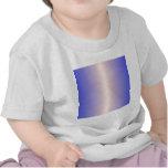 Seda sin blanquear y pendiente del azul de Palatin Camiseta
