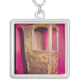Sedan Chair Silver Plated Necklace