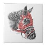 Sedas del retrato del caballo de raza teja  ceramica