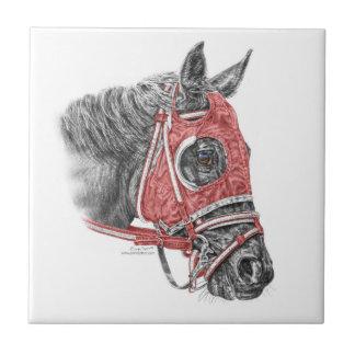 Sedas del retrato del caballo de raza azulejo cuadrado pequeño